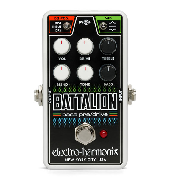 Electro-Harmonix Nano Battalion Bass Preamp & Overdrive