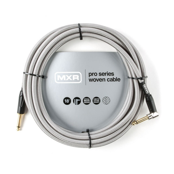 MXR 18 foot Right Angle Pro Series Woven Instrument Cable