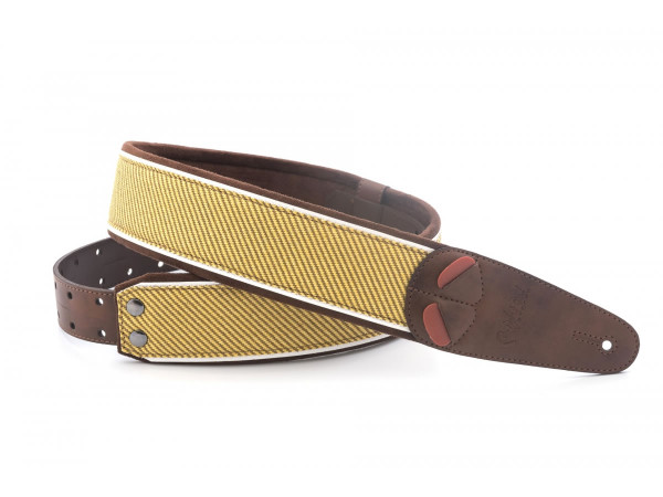 Right On Straps MOJO Tweed Brown Guitar Strap