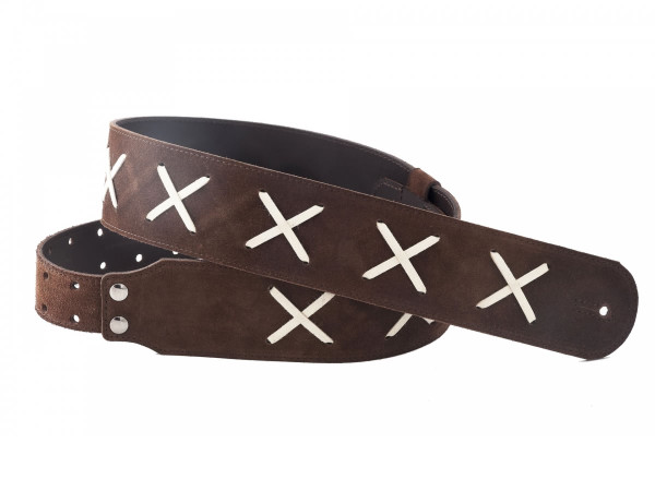 Right On Straps GILMOUR Brown Guitar Strap