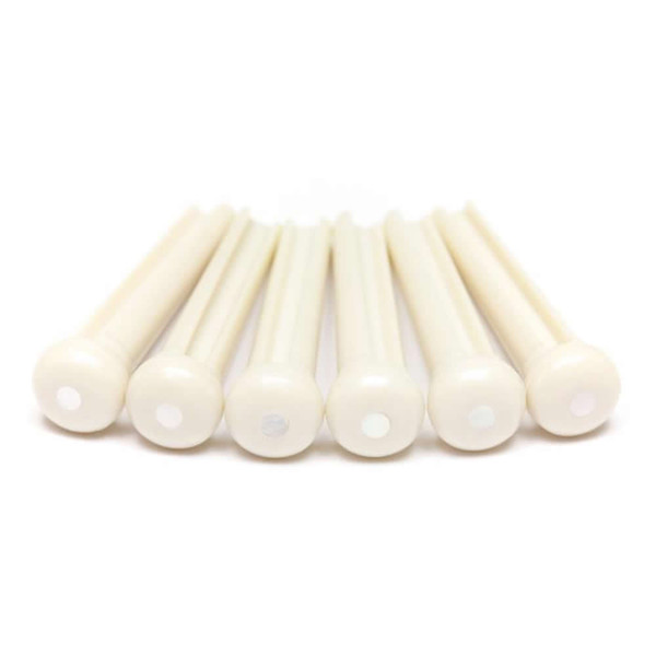 Graph Tech TUSQ Traditional Style Bridge Pins - Ivory with MOP Dot