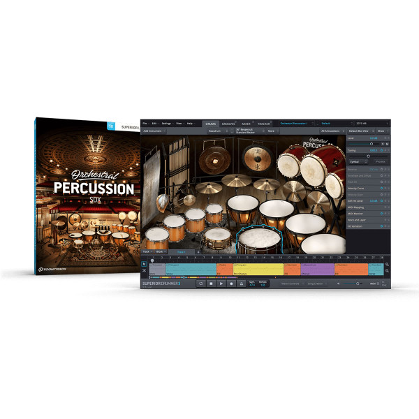 ToonTrack Orchestral Percussion SDX for Superior Drummer 3.0