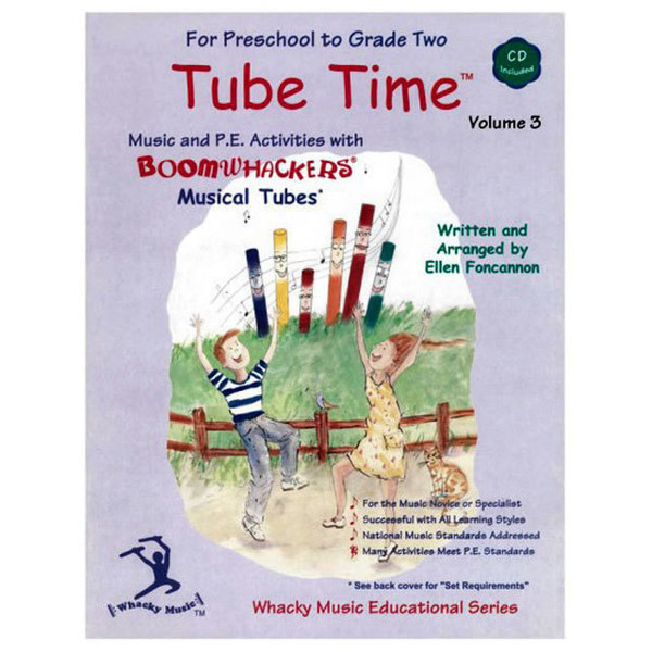 """Boomwhackers """"Tube Time Volume 3"""" Book/CD"""