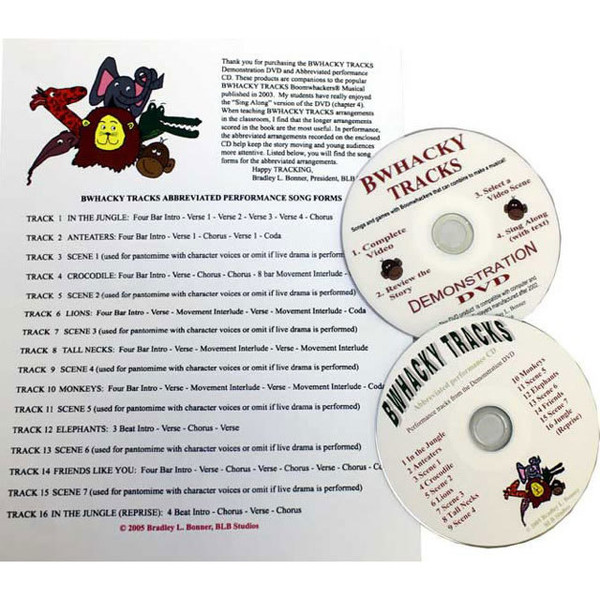 """Boomwhackers """"Bwhacky Tracks"""" Package Book/CD/DVD"""
