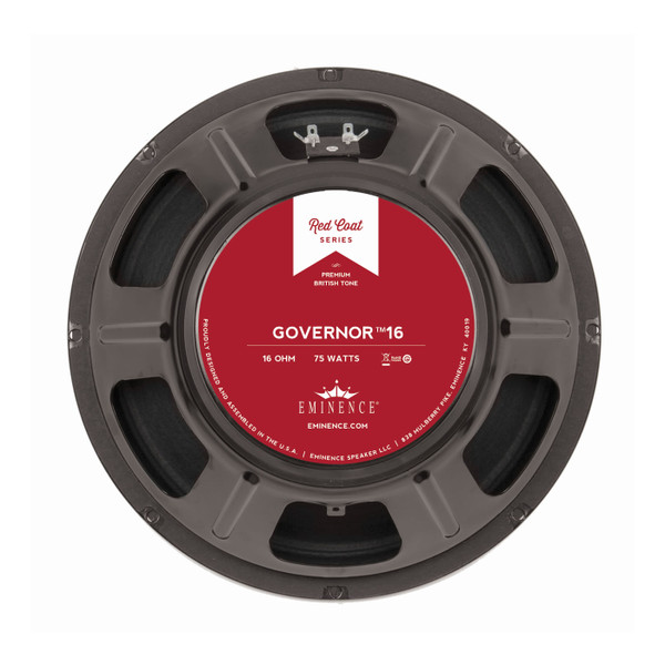 "Eminence The Governor™ 16 12"" 75W Speaker"