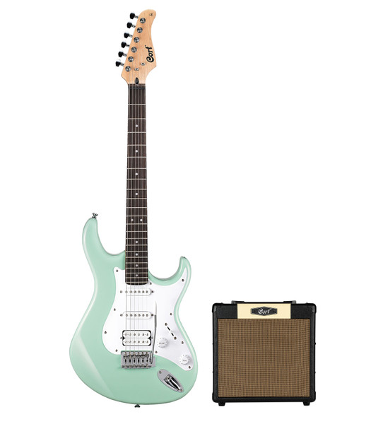 Cort G110 Electric Guitar Package with Amp - Caribbean Green