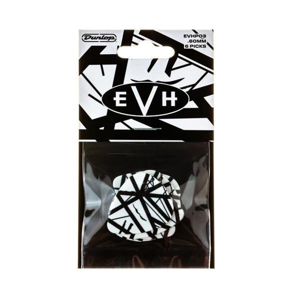 Jim Dunlop EVH® White with Black Stripes Pick Player's Pack