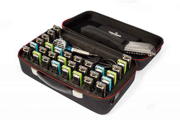 Hohner FlexCase XL Harmonica Case - Holds up to 48 Harmonicas