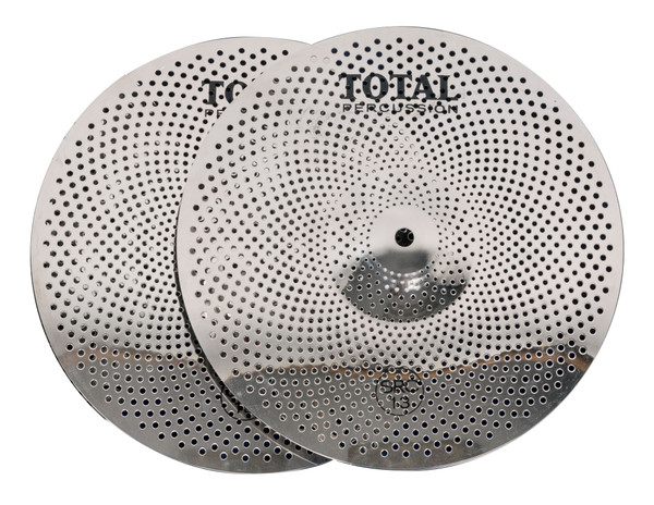 """Total Percussion 13"""" Sound Reduction Hi-Hat Cymbal Pair"""