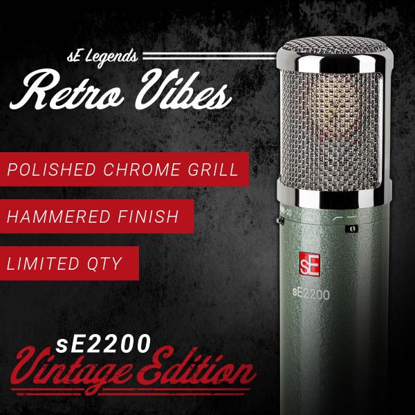 sE Electronics sE2200 VE Vintage Edition Large Diaphragm Cardioid Condenser Microphone