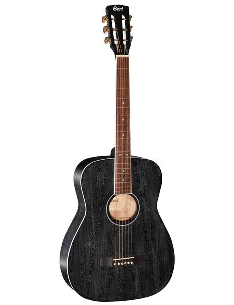 Cort AF590MF All Mahogany Concert Acoustic/Electric - Open Pore Black
