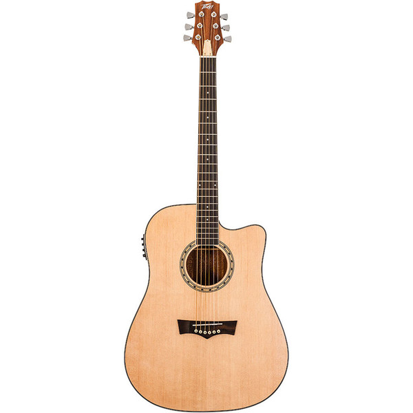 Peavey Delta Woods DW2SCE Acoustic/Electric Cutaway - Natural Satin
