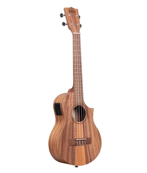 Kala KA-TK-T-CE Teak Tri-Top Tenor Acoustic/Electric Ukulele