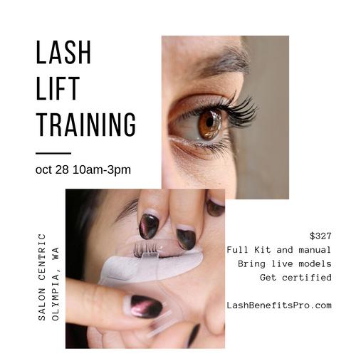 Lash Lift Training with Kit March 30th Poulsbo, WA 10am-3pm