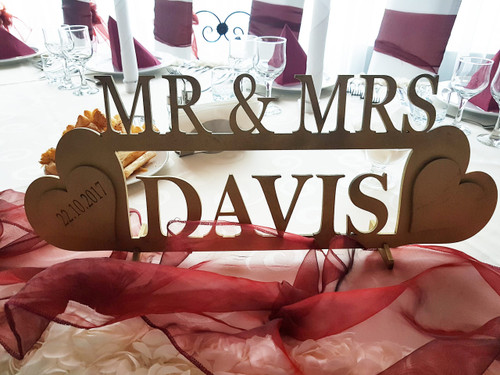 Wooden Mr&Mrs Standing Sign