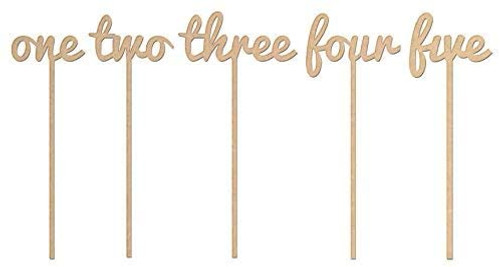 Wooden Table numbers/names with stake or Freestanding