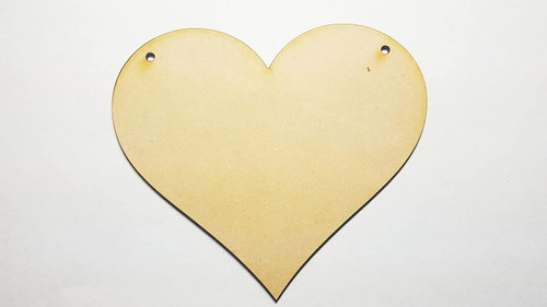 4 X Medium/Large Blank MDF/Wooden Heart Shape Plaques/Signs - 150mm x 130mm - Ready to Decorate!