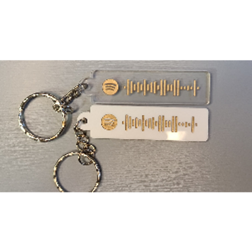 Spotify Keyring Acrylic  Laser Engraved Perfect Gift for Valentines day