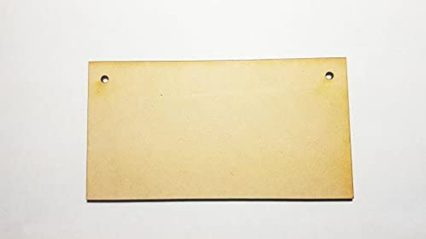 0 X Lightweight Blank MDF/Wooden Plaques/Signs - 150mm x 80mm - Ready to Decorate!