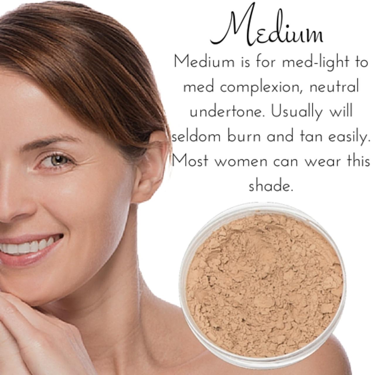Full Coverage Matte Mineral Foundation Medium Smm Cosmetics