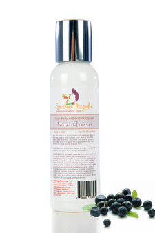 3% Acai Berry Antioxidant Glycolic Facial Cleanser for Mature or Acne Prone Skin