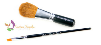 2 piece Flawless Face + Concealer Makeup Brush Set from Southern Magnolia Minerals