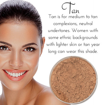 Tan - Full Coverage Matte Mineral Foundation | Titanium-Free