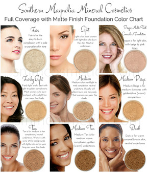 $10 Refill! Loose Mineral Foundation   Original Full Coverage Matte Finish   9 Shades