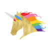 Sparkle and shine in the 'Rainbow Unicorn' metallic gold temporary Flash Tattoo!