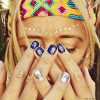 Looking for a way to spice up your next manicure? Apply the mini chevron designs of the Dakota collection on top on your favorite nail polish for fabulous nail bling! #FLASHTAT @FlashTattoos