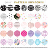 Flash Tattoos pattern swatches for Custom Mini Pack topper.