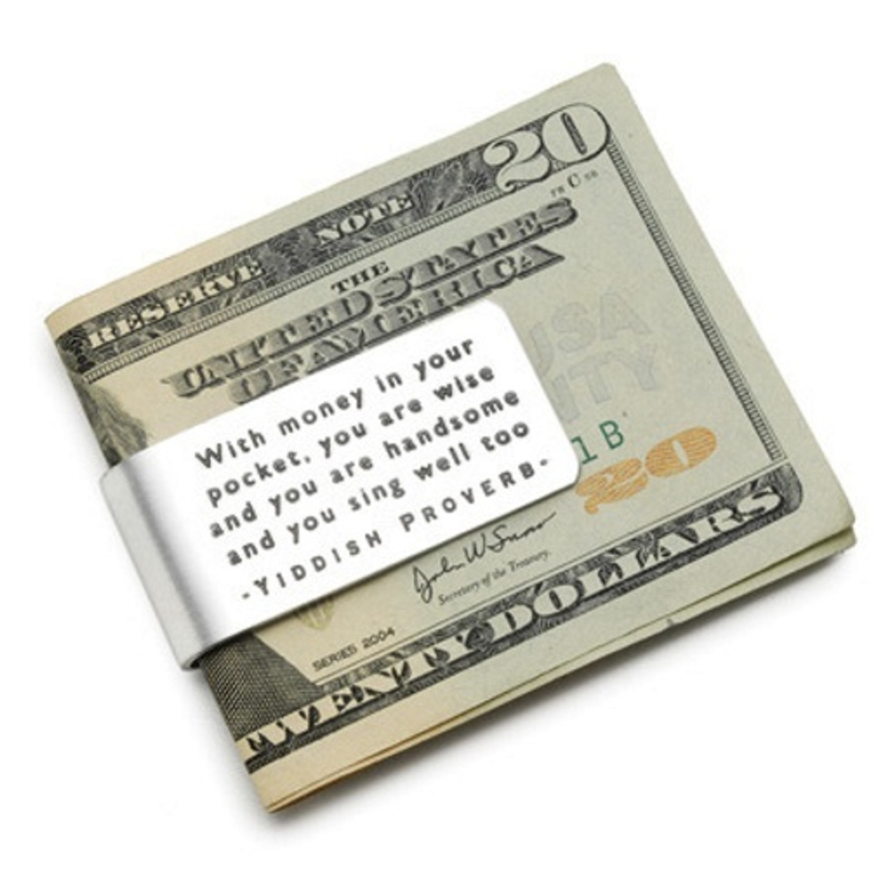 For the Little Bit of Money Wife Anniversary Present Husband Gift Personalized Money Clip Aluminum Money Clip