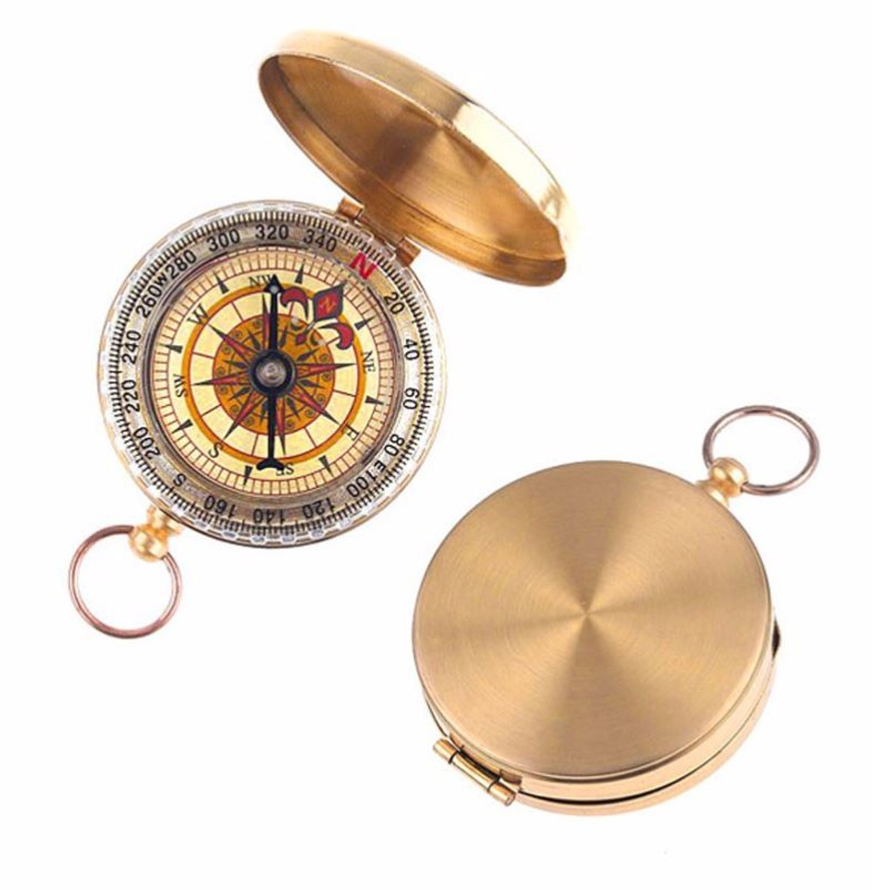 Personalized Classic Brass Pocket Watch Style Compass Forevergifts Com