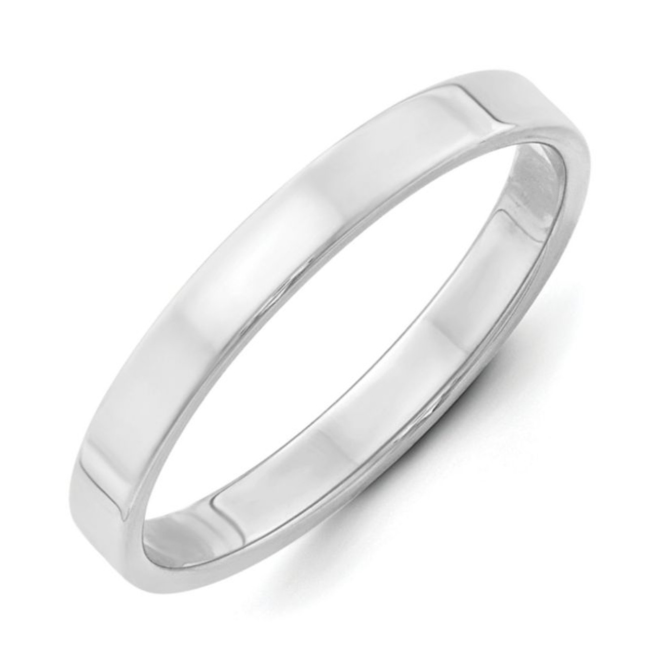 Silver 6mm Ladies or Mens Flat Wedding Band Flat Design 925 Sterling Silver Classic Wedding Ring Great for Anniversary or Promose Ring