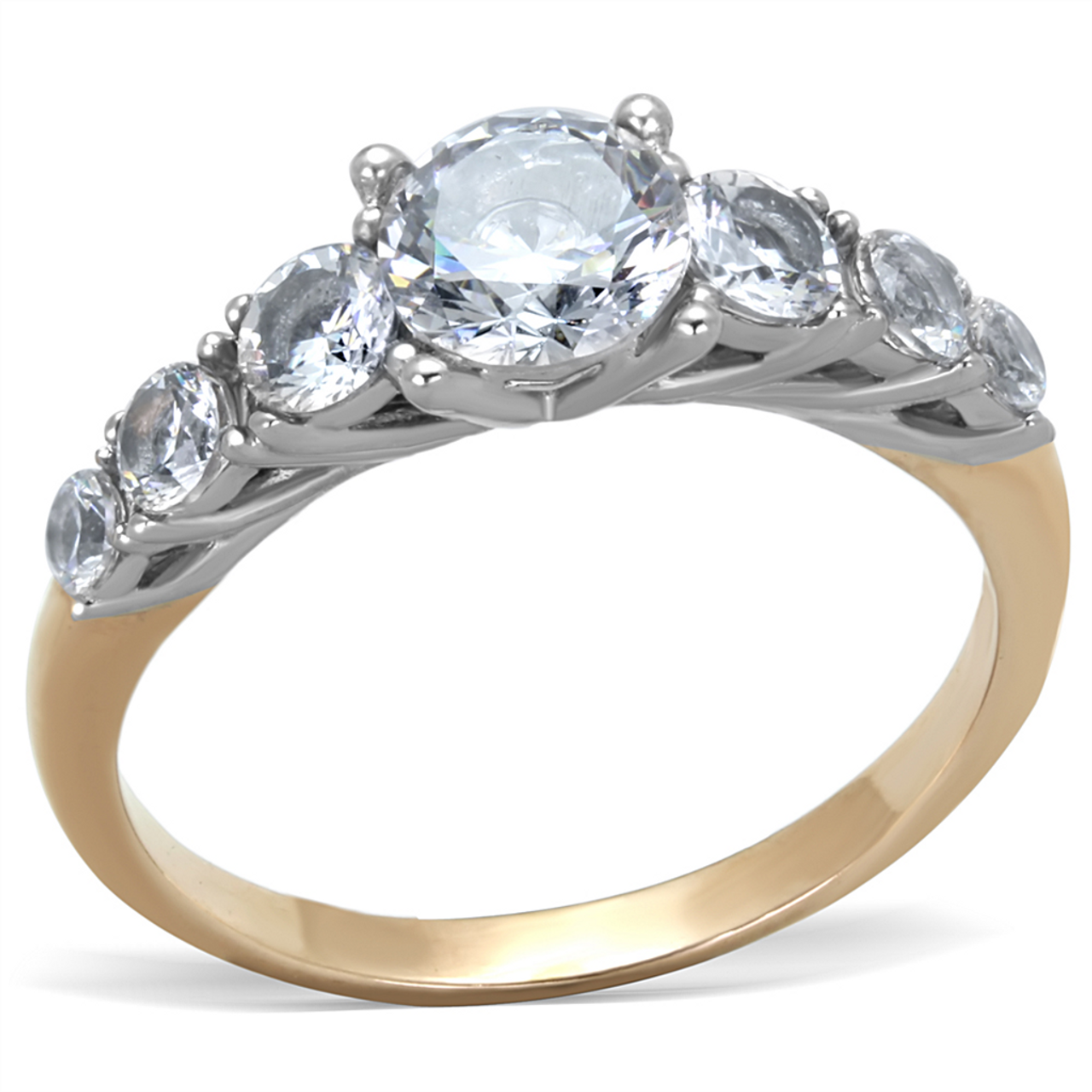 d1dd8b20b423b Personalized Stainless Steel Two Tone Engagement Ring