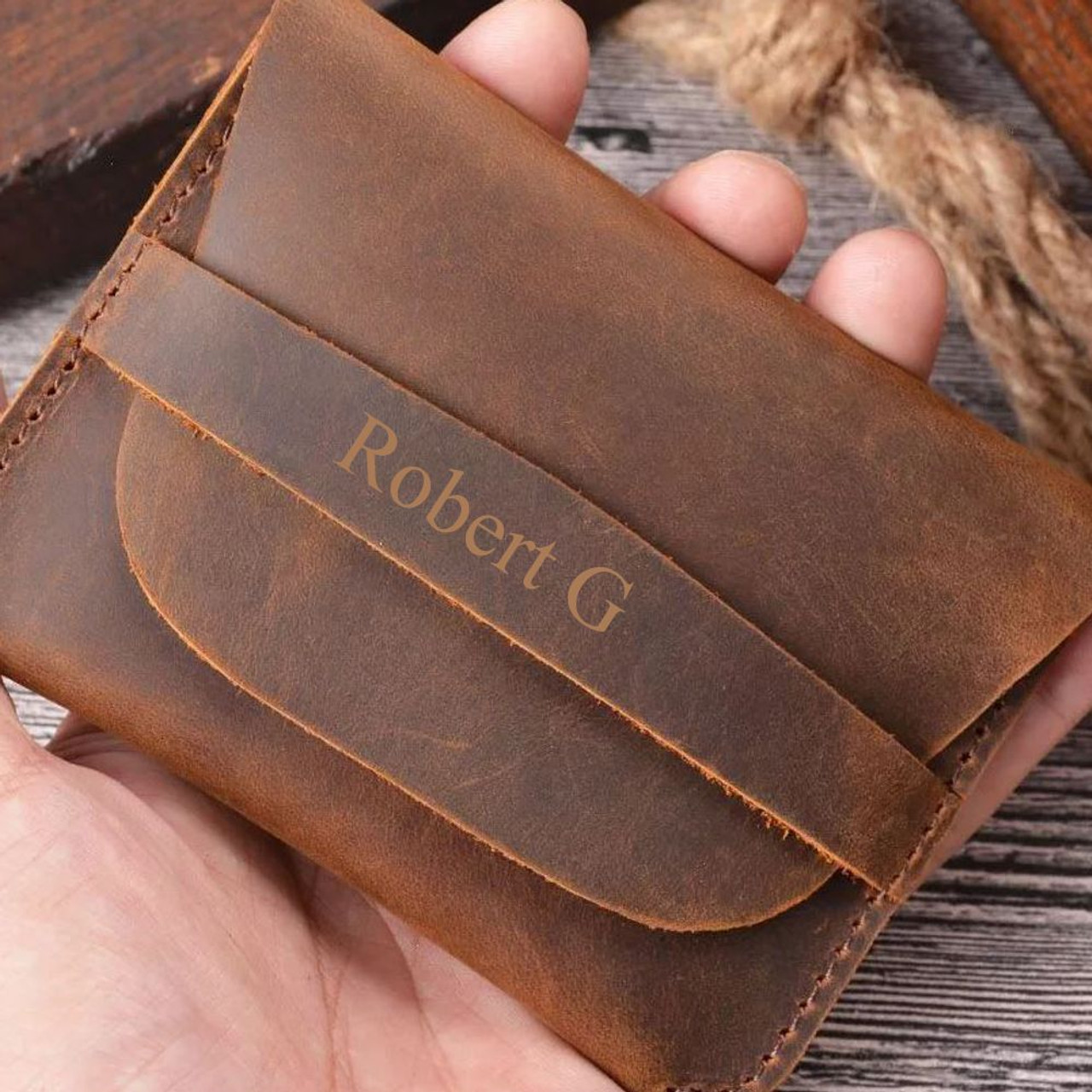 Two-color wallet Women/'s wallet Stylish purse Leather wallet Gift-Leather Crazy Horst- Personalization Wallet Hand made