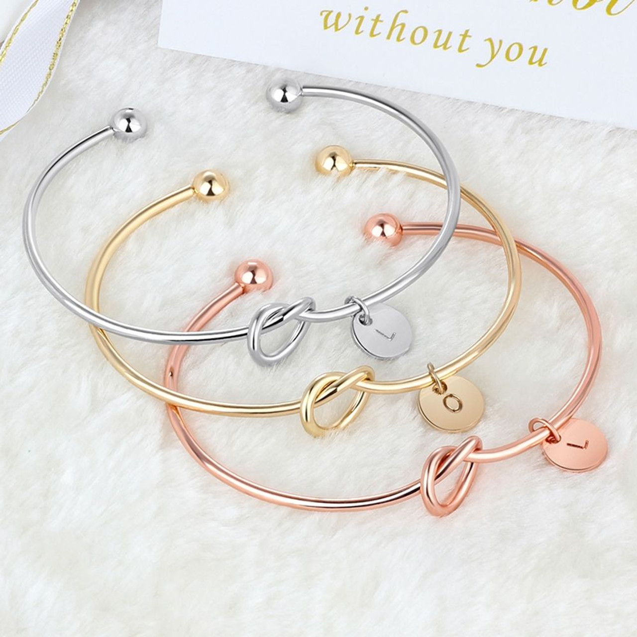 Mother/'s day gift Eternity bracelet Personalized bracelet Mothers bracelet 3 initial monogram Three initial bracelet