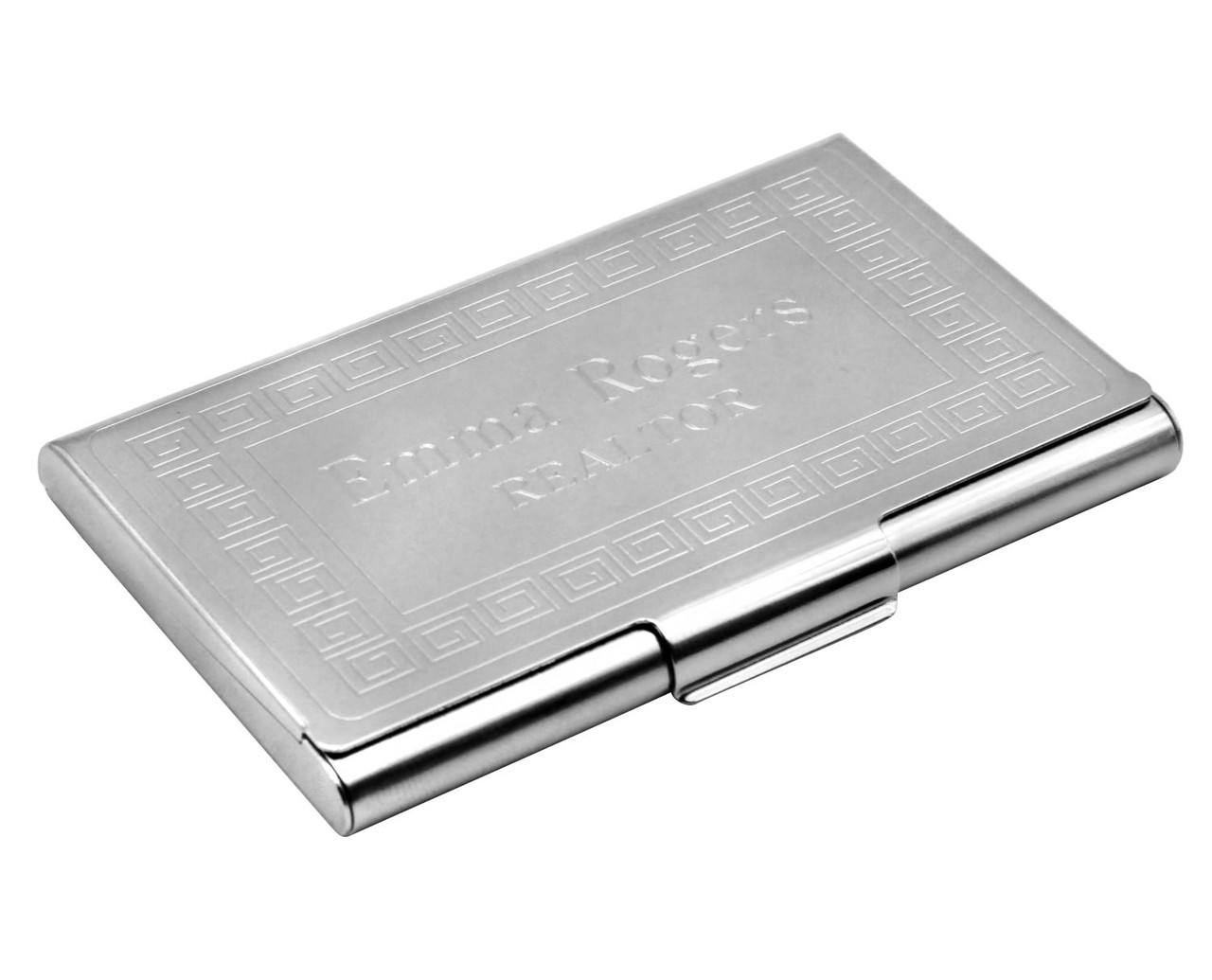 Great Value Personalised Gift 4 Finishes available Steel Money Clip Holders