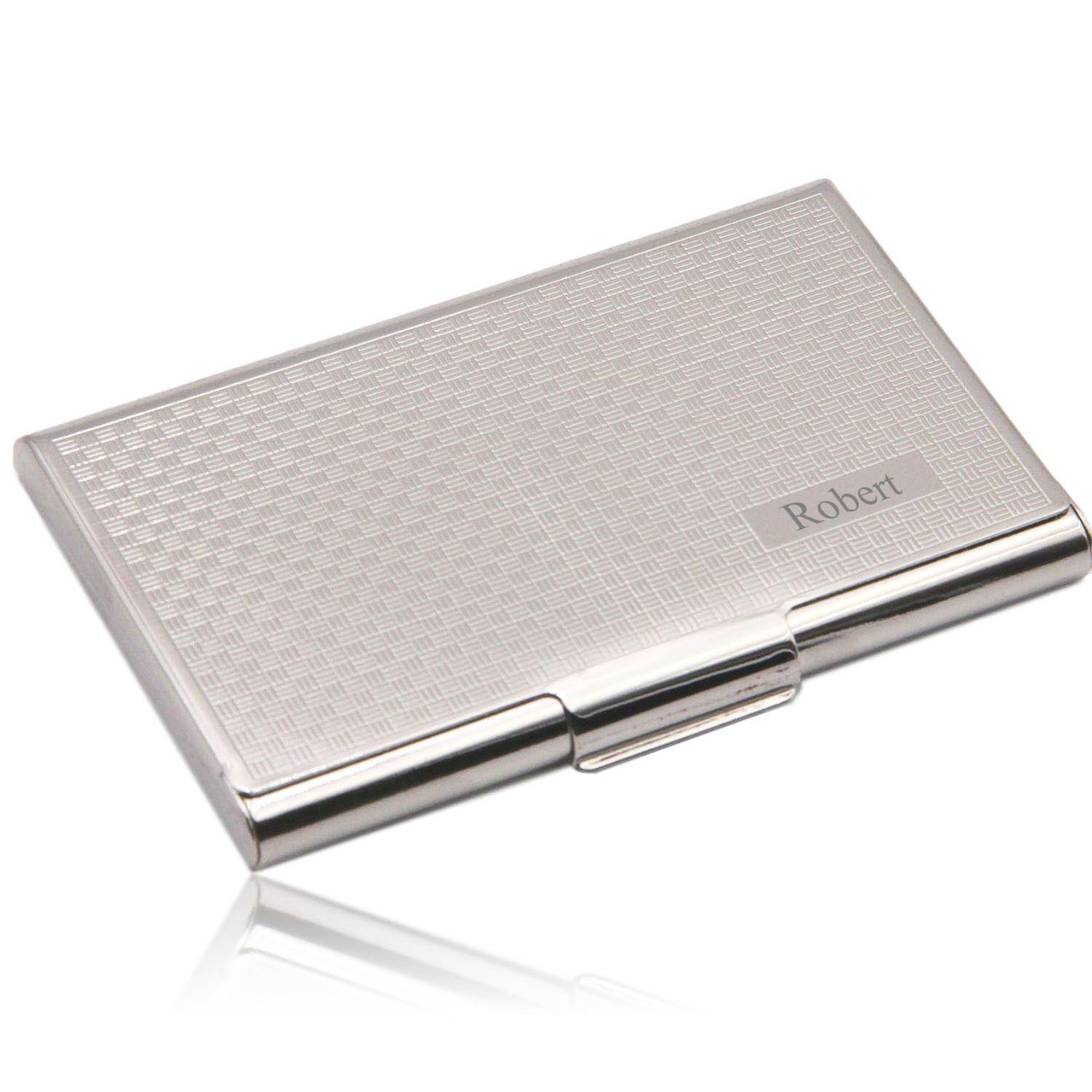 Free Engraving Personalized Plain Metal Business Card Holder