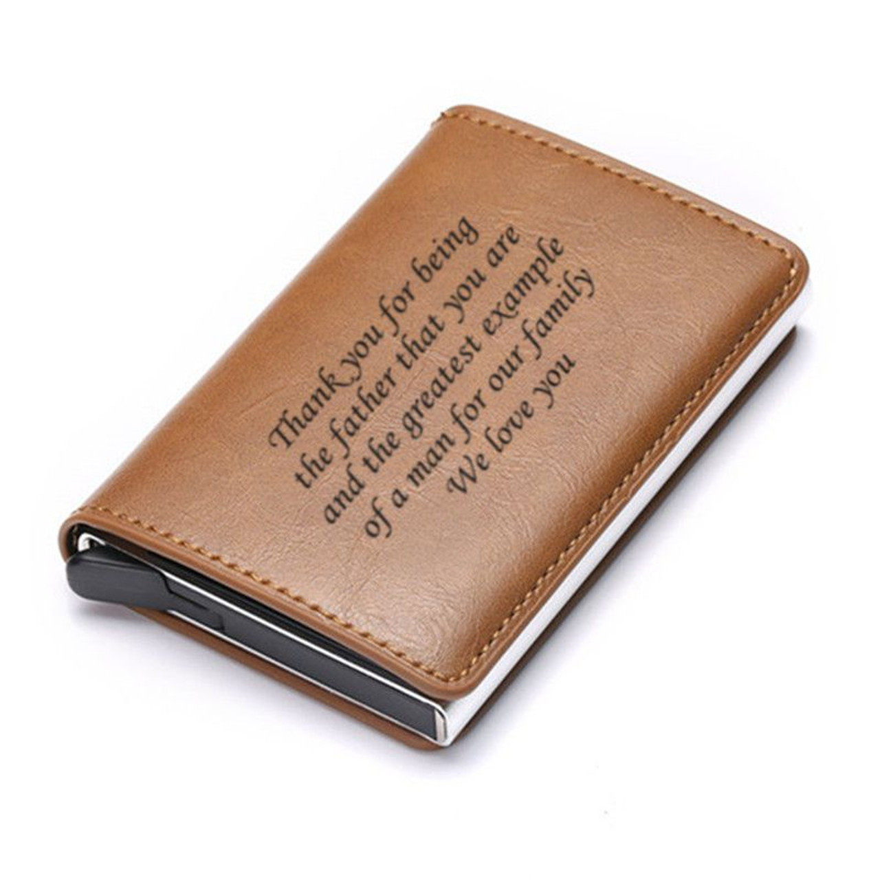 Personalized custom double-sided photo slim mens wallet father gift