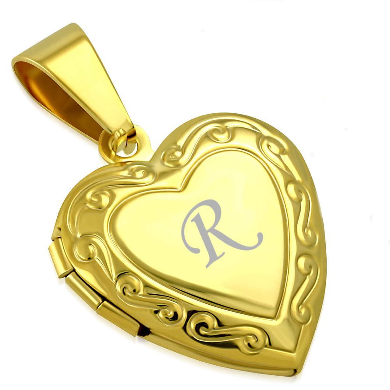 Heart Locket Keychain Antique Brass Accessory