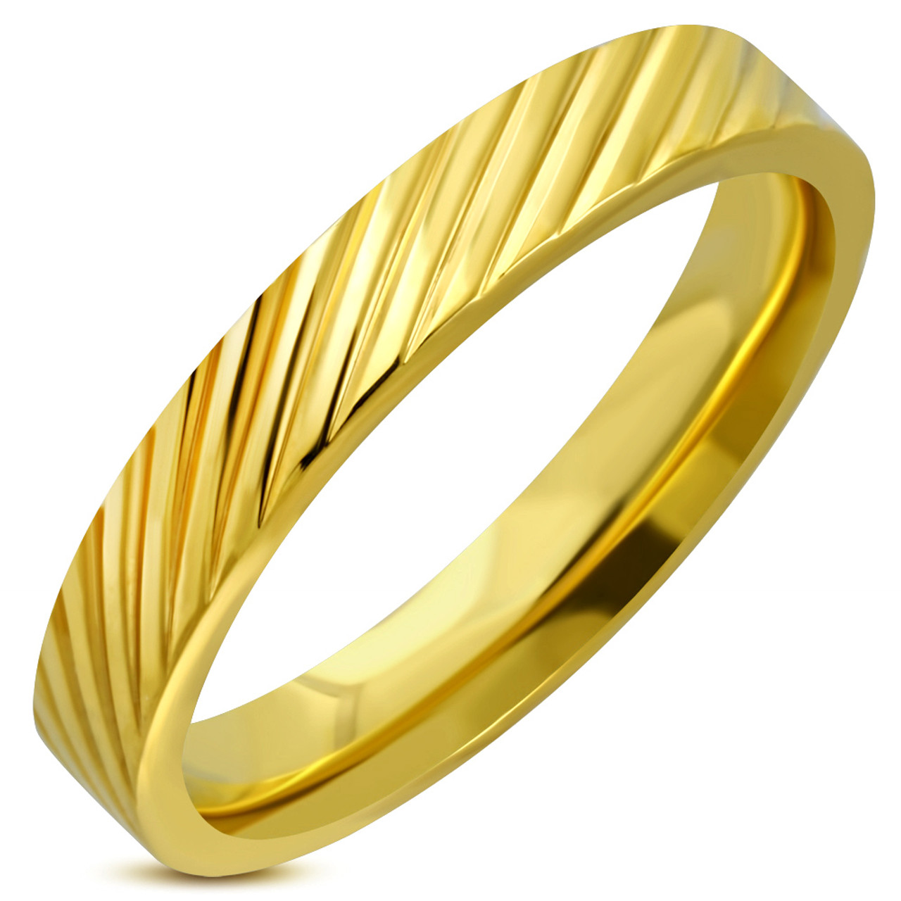 4mm Stainless Steel Gold Color Grooved Comfort Fit Band Ring Forevergifts Com,Sage And Lavender Color Scheme