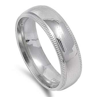 6mm Quality Stainless Steel Personalized Ring