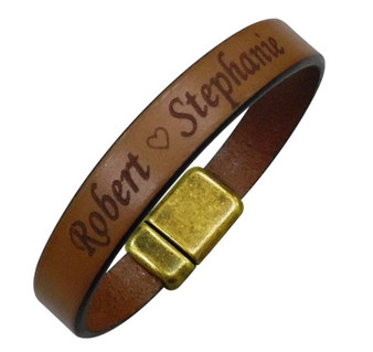 Personalized Quality Genuine European Leather Bracelet