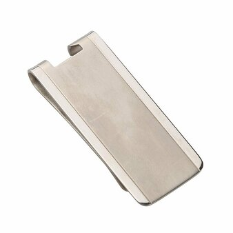 Solid Titanium Lightweight Money Clip with Bottle Opener