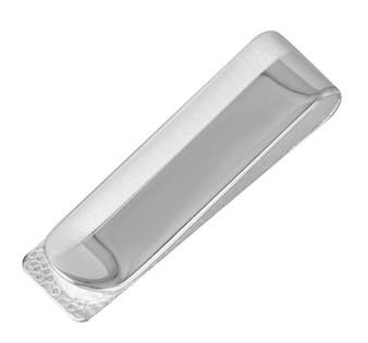 Solid Sterling Silver Dual Tone Money Clip -Free Engraving