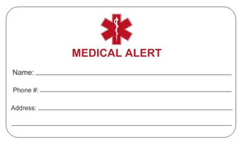 Stainless Steel With Red Rubber Medical ID Bracelet - Free Engraving