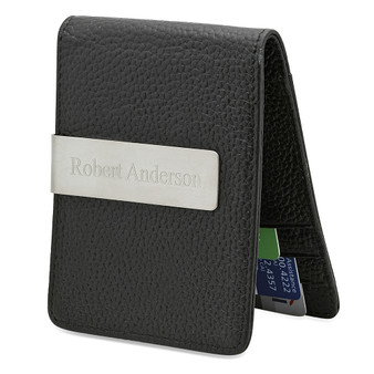 Personalized Men's Slim Money Clip / Wallet - Free Engraving
