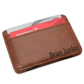 Personalized Magic Wallet / Money Clip - Free Engraving