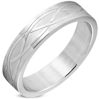 6mm Stainless Steel Matte Finished Celtic infinity Ring
